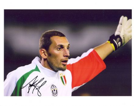 Christian Abbiati, Juventus, signed 10x8 inch photo.